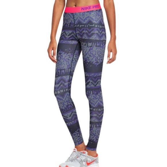 6c17bbe5898b46 Nike Pants | Pro Nordic Printed Hyperwarm Tights Leggings | Poshmark